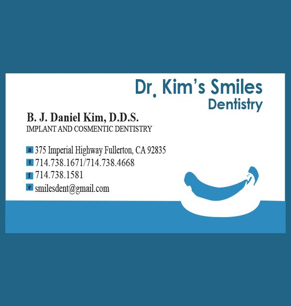Dr. Kim's Smiles Dentistry (Business Card) - Kreative Tek Solutions