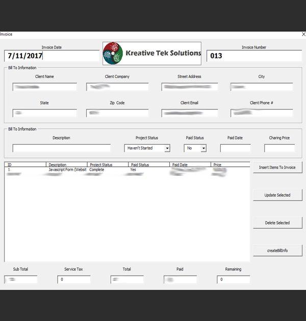 KTS Business Progress Tracker (VBA Application) - Kreative Tek Solutions