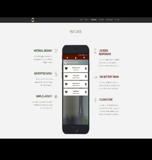 Let's Match (Custom Website/Android Application) - Kreative Tek Solutions