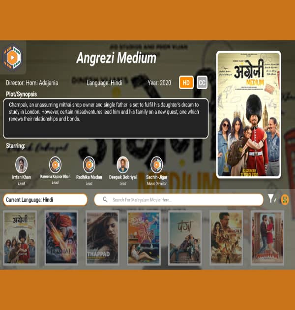 Online Indian Movie(design app-mobile scripts other)