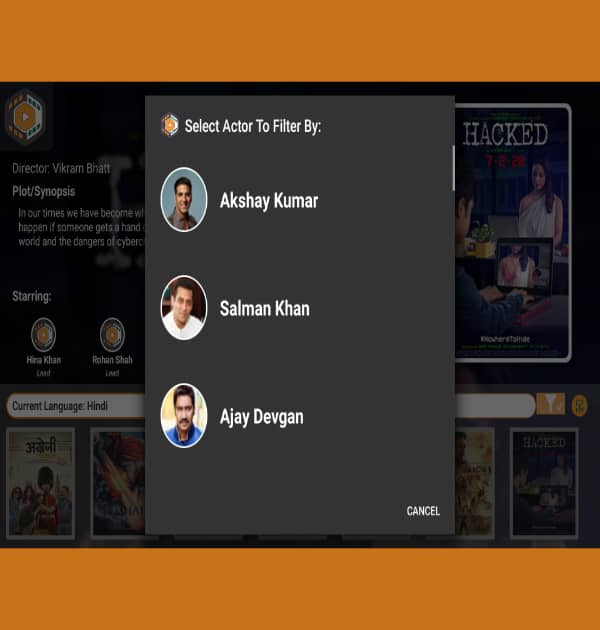 Online Indian Movie (Android TV Application) - Kreative Tek Solutions
