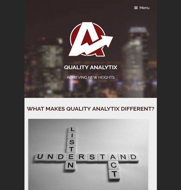 Quality Analytix (Custom Website) - Kreative Tek Solutions